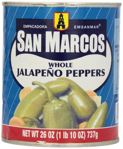 Whole Jalapenos (San Marcos Whole Jalapeno Peppers, 26 oz)