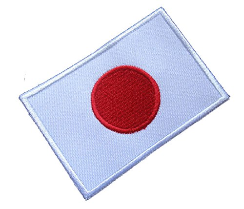 (Japan Nippon Japanese Nihon National Flag Sew on Patch Free)