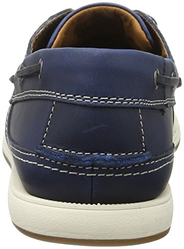 Azul para Navy Leather Hombre Fulmen Clarks Row Náuticos tqx1XxwP