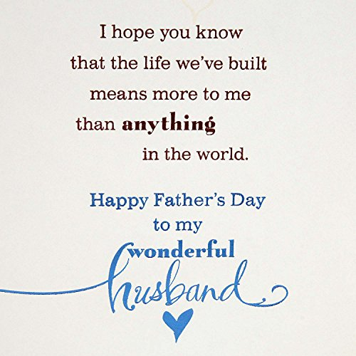 Hallmark Father's Day Greeting Card for Husband (The Life We've Built) Photo #5