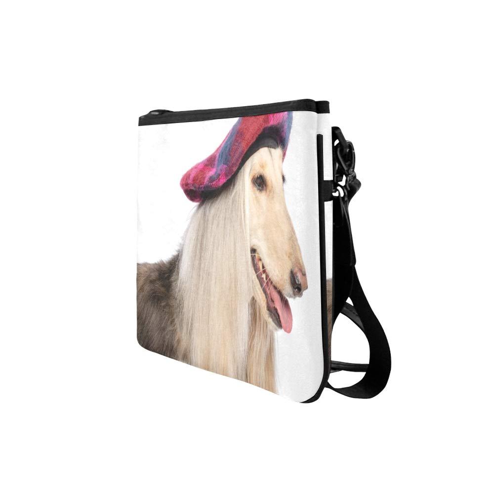 Casual Clutch Bag Elegant Afghan Hound Adjustable Shoulder Strap Zipper Shoulder Bag Fashion Travel Bag Messenger Cross Body Bag Mens Bag Fashion