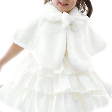 iEFiEL Chaqueta Capas Elegantes de Princesa para Niña Poncho Infantil de Vestido Boda Fiesta Bolero Calentito de Invierno: Amazon.es: Ropa y accesorios