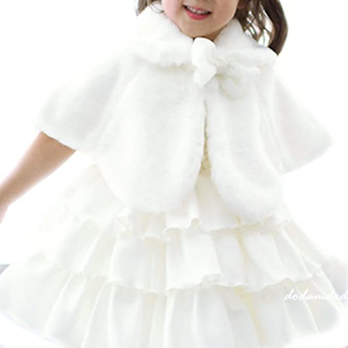 iEFiEL Chaqueta Capas Elegantes de Princesa para Niña Poncho Infantil de Vestido Boda Fiesta Bolero Calentito