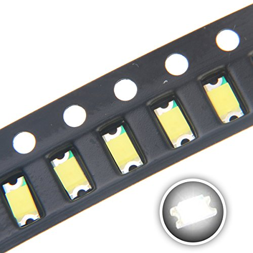 Chanzon 100 pcs 1206 White SMD LED Diode Lights (Small Surface Mount Chip 3.2mm x 1.6mm for PCB DC 3V 20mA) Super Bright Lighting Bulb Lamps Electronics Components Light Emitting Diodes