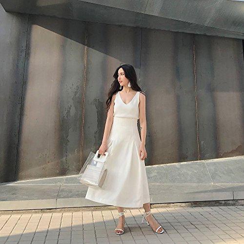 39 Dedos Los con Blanco Verano Correas DHG Simples Ballet Sandalias Expuestos con de de zwOvS8qw