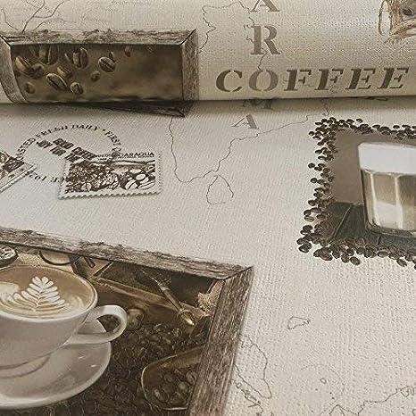 Rasch Motiv Kaffee Cappuccino Mocca Vinyl Tapete Küche 855104 Photo