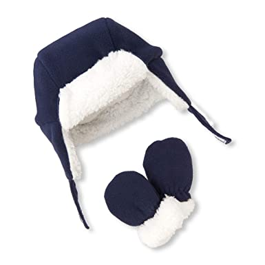 Amazon.com  The Children s Place Baby Boys Hat and Mitten Set  Clothing b49188f67dc