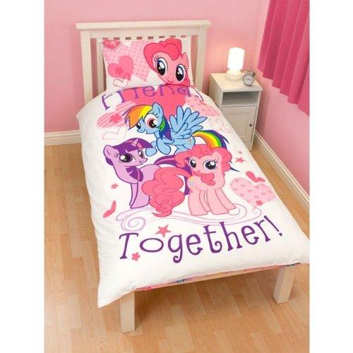 Girls/Kids My Little Pony Quilt/Duvet Cover Bedding Set (Single ...