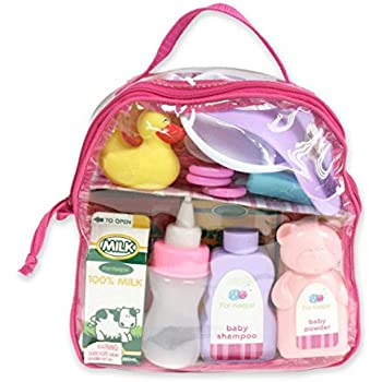 Amazon Com Adora Baby Doll Diaper Bag Accessories With 5