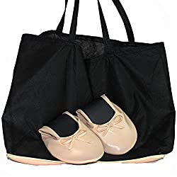 Women's Ballet Flats Foldable Flat shoes WITH EXPANDABLE TOTE BAG for Carrying High Heels Fold up ballet shoes great for Weddings Bridal Parties Folding Flats Creaml (Large = 8.5 to 9.5)
