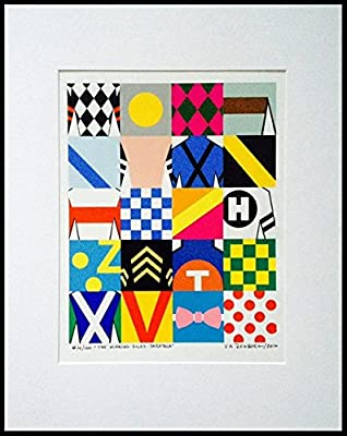 The Winning Silks Collection™ 2016 Saratoga - Limited Edition Signed Print #77/100