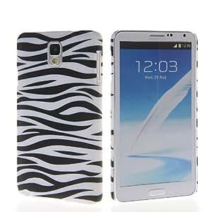CASEPRADISE Zebra Stripe Rubberized Coating Hard Rubber Back Etui Cover Case For Samsung Galaxy Note 3 N9000