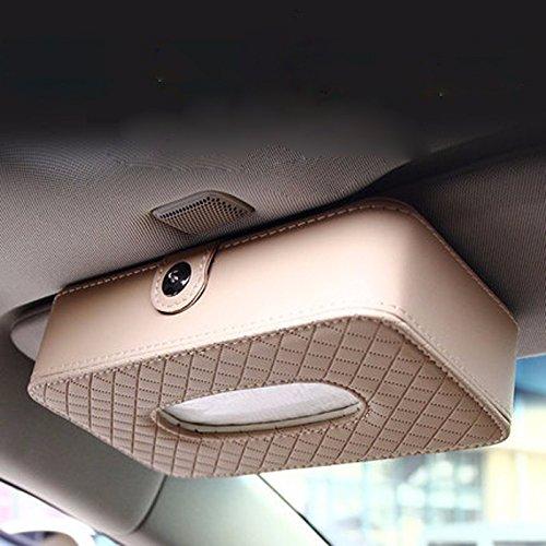 HGTYU-Alquiler de toallas de papel colgando del cielo Cuadro Ventana Parasol de Coche Junta Carton Cuero Caja de toallas de papel: Amazon.es: Hogar