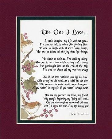 Amazoncom The One I Love 213 Gift Present Valentine Poem For