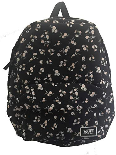 Vans Classic Floral Black and White Realm Backpack