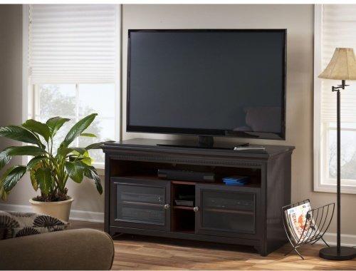 Price comparison product image Bush Furniture Stanford TV Stand, Antique Black/Hansen Cherry