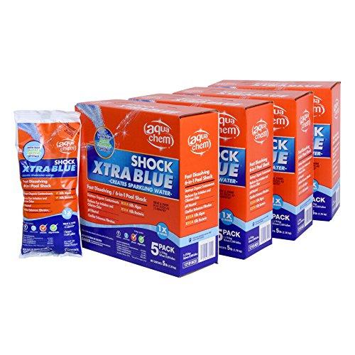 Aqua Chem 12101AQU-04 Xtra Blue Swimming Pool Shock, 1-Pound, 20-Pack