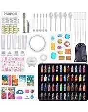 MEISHANG Sieraden gietvormen voor hars, sieraden gietvormen set, sieraden siliconen vorm, sieraden vormen siliconen epoxyhars, sieraden siliconen mal gietvorm, sieraden zelf maken set