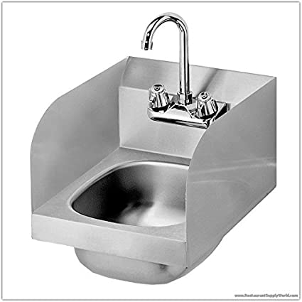 Amazoncom 12 Inch Commercial Stainless Steel Hand Sink With Side