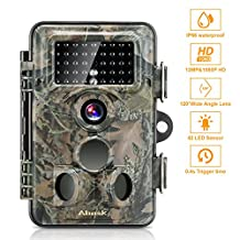 Wildlife Camera, ABASK Trail Surveillance Waterproof Scouting Digital Camera 3 Zone Infrared Sensor 12MP 1080P HD With Time Lapse 65ft 120° Wide Angle Night Vision For Game & Hunting