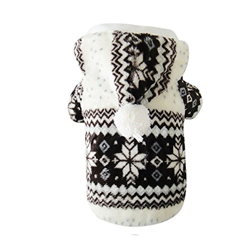 [Snowflake Pattern Warm Cotton Padded Clothing Pet Dog Costume Clothing Puppy Apparel Coat] (Iron Man Cat Costume)