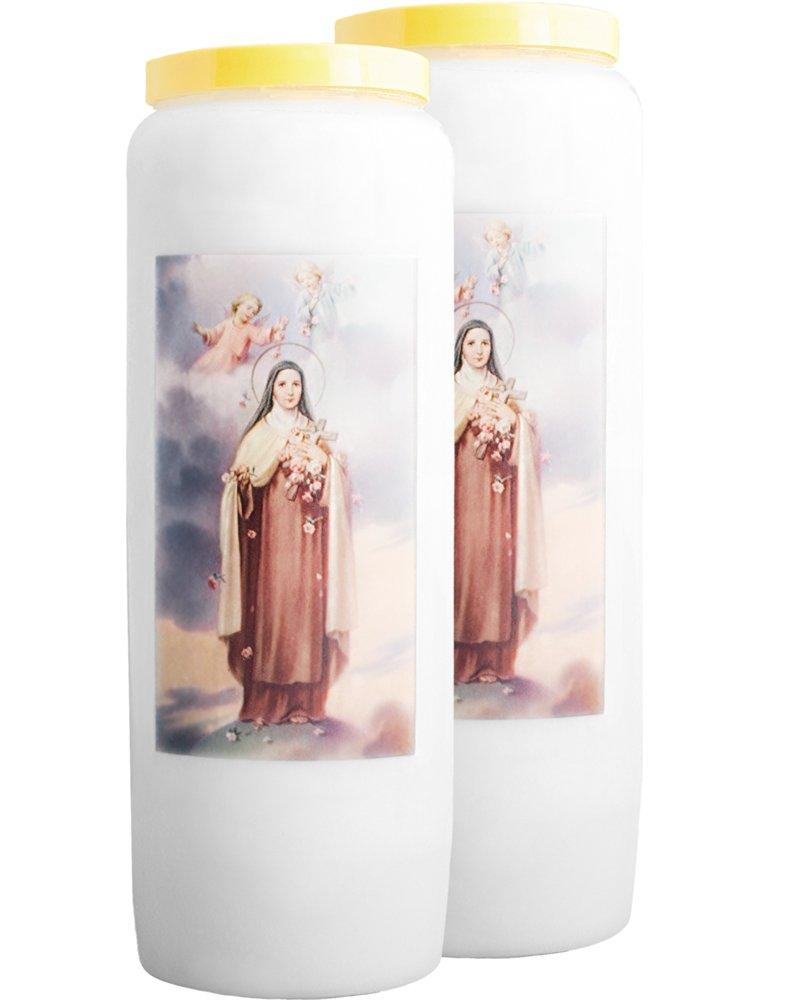 Christ-en-or Lot de 2 Bougie Neuvaine Saint Joseph Le Gardien Vigilant 9 Jours // 100/% v/ég/étale