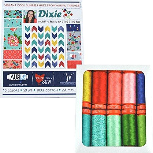Aurifil AH50DC10 Dixie Collection by Alison Haris 50wt 10...