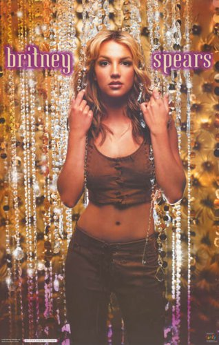 Britney Spears Beads Music Poster Print