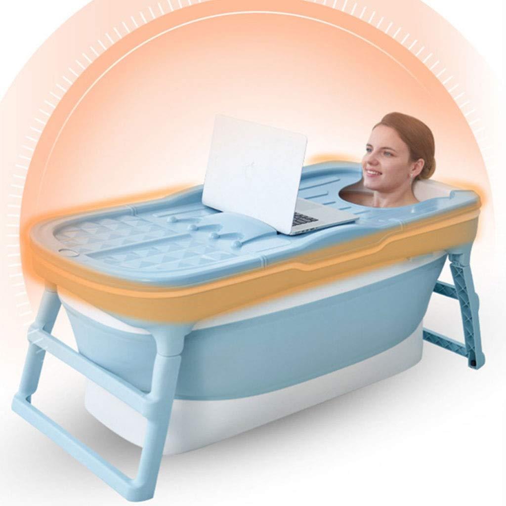 La Ba/ñera Plegable Antideslizante-tina De Ba/ño For Ni/ños Y Adultos Home Health Ba/ñera Temperatura Inteligente TPE PP Ba/ño En Barrica Filo-doble Ribete
