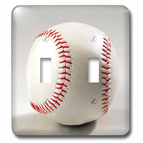 3dRose lsp_83211_2 Baseball Studio Li06 Pri0001 Prisma Double Toggle Switch