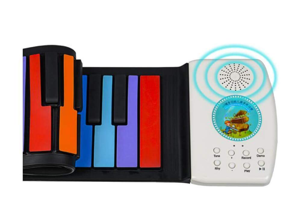 CE-LXYYD 49-Key Folding Piano, Thick Waterproof and Rechargeable Portable Color Electronic Piano, Suitable for Beginners, Best Gift for Children,Color by CE-LXYYD (Image #5)