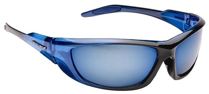 c4f56e9835 Mens Designer Wrap Around Visor Sports Biker Ski Fishing Sunglasses Retro  Mirror Black Blue Red (Blue)  Amazon.co.uk  Clothing