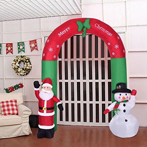 8.2' Indoor / Outdoor Christmas Arch Santa Claus Snowman by Apontus