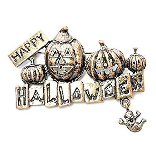 Faship Happy Halloween Pin Brooch Pumpkins Ghost
