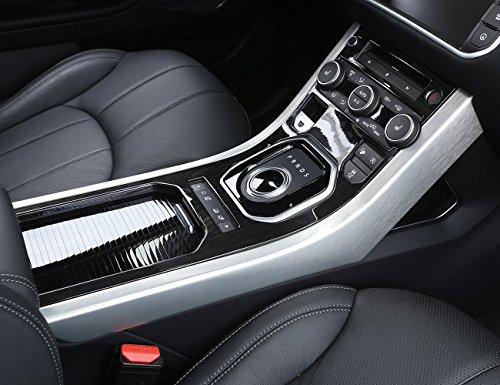 ABS Dark Wood Grain Center Console Gear Shift Panel Cover Trim For Range Rover Evoque ()