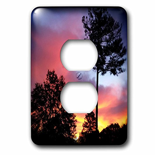 3dRose WhiteOaks Photography and Artwork - Nature Scene - Georgia Fire in the Sky is a photo not enhanced of a Georgia Sky - Light Switch Covers - 2 plug outlet cover (lsp_265356_6) by 3dRose