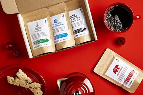 Bean Box Dark Roast Gourmet Coffee Sampler - 6-Month Gift Subscription - (fresh roasted coffee gift box, specialty whole bean, 4 roasts every month, Christmas gift, holiday gift) by Bean Box (Image #1)