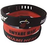 ENJOY 11 NBA Basketball Team Star Adjustable Silicone Bracelets Wristbands, a Set of Three