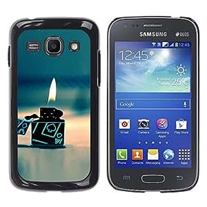 TopCaseStore / la caja del caucho duro de la cubierta de protección de la piel - Gas Poker Gambling Flame Beach - Samsung Galaxy Ace 3 GT-S7270 GT-S7275 GT-S7272