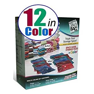 Amazon Com Space Bag 12 Storage Combo Packs In Color