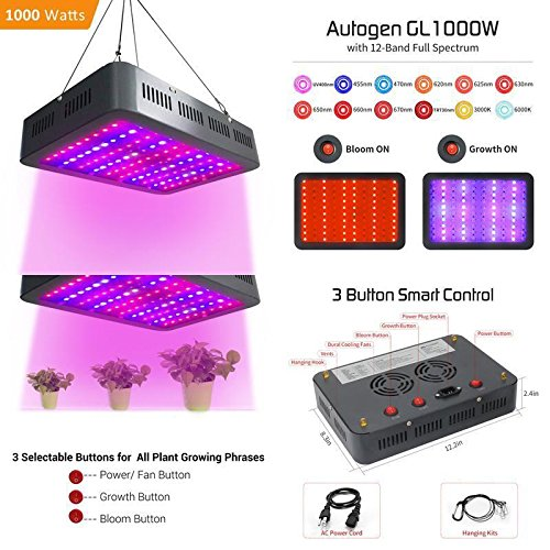 GOOD MEDIA 1000W Led Grow Light Autogen Ultra Bright Full Spectrum Lamp With Mode Control ✅ by GOOD MEDIA