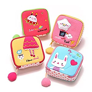 Eyedow Kingdom Mini Cute Cartoon Cloth Cotton Sanitary Napkin Bags Admission Package Essential For Children Purse Girl