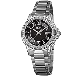 CZ Studded Designer Women's Stainless Steel Watch