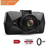 "Dash Cam, SEYDI F1 Car Camera : 2.7"" Screen 2K Full HD 1296p Dashboard Camera, 170° Wide Angle, DVR, Parking Mode, WDR Night Vision, GPS, G-Sensor, 32G card, CPL Filter, Suction Cup Mount"