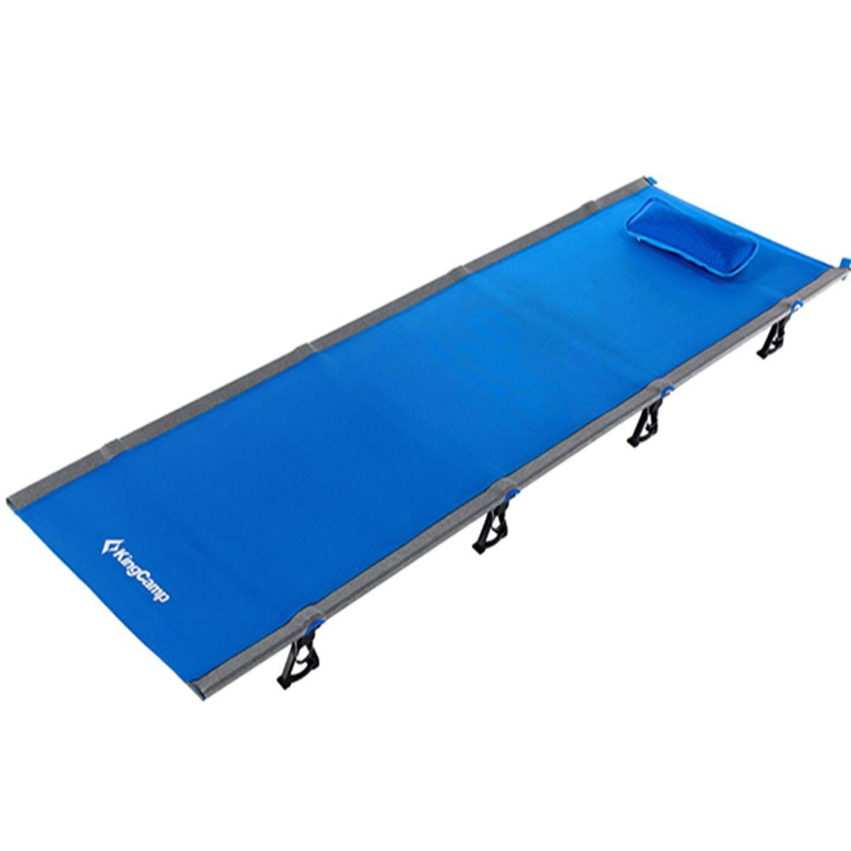 KingCamp Ultralight Compact Folding Camping Cot Bed, 4.9 Pounds Blue