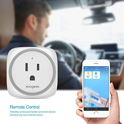 Koogeek Smart Plug, WiFi Outlet, on 2.4Ghz Network, for iOS and Android Devices Remote Control, Night Light, Works with Alexa and Apple HomeKit by Koogeek (Image #5)