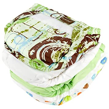 Kushies UL3005N 5 Pack Washable Ultra-Lite Diaper For Toddler, Neutral Print