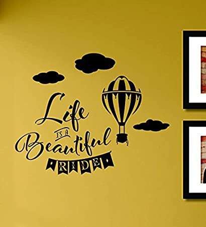Amazon.com: Life is a beautiful ride Vinyl Wall Decals Quotes ...