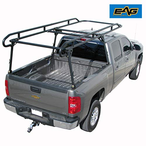 (EAG Contractor Pickup Truck Ladder Lumber Rack Loads up to 1500 lbs - Full Size)