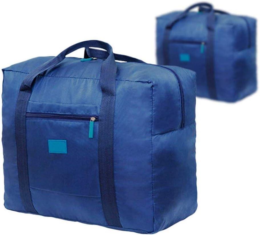 Bleu Fliyeong 2 Pcs L/éger Nylon Pliable Main Sac De Bagage V/êtements De Voyage Finition Sac De Rangement Imperm/éable /À leau